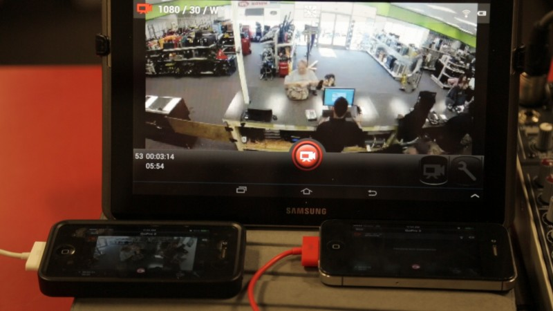GoPro Tablet and iPhone monitor