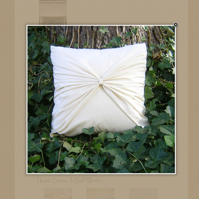 Custom made pillow cover HOMEarthOrganics