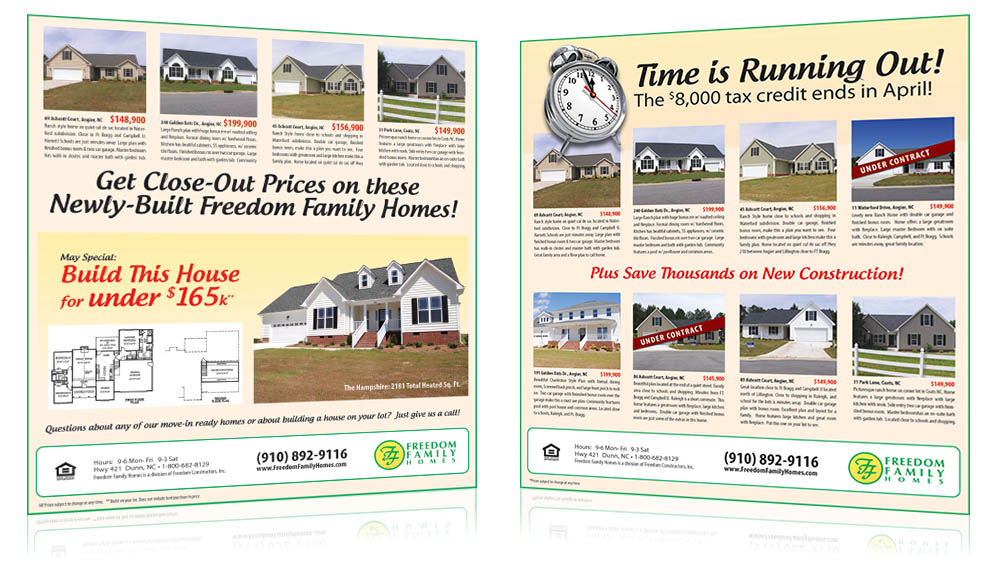 Freedom Family Homes Print Sample 2
