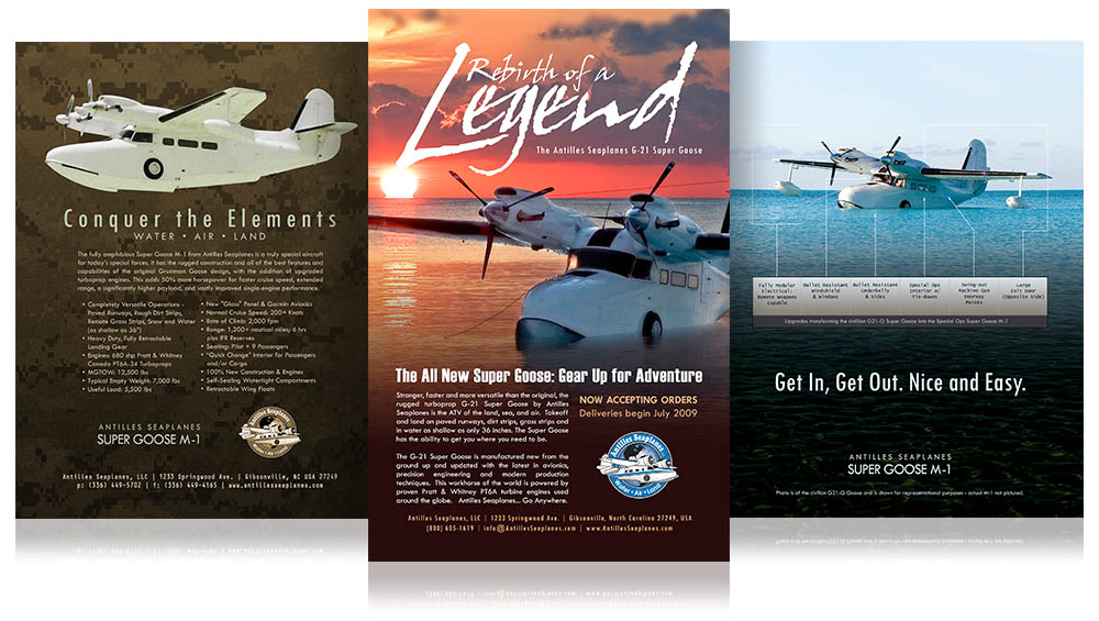 Antilles Sea Planes Flyers & Ads